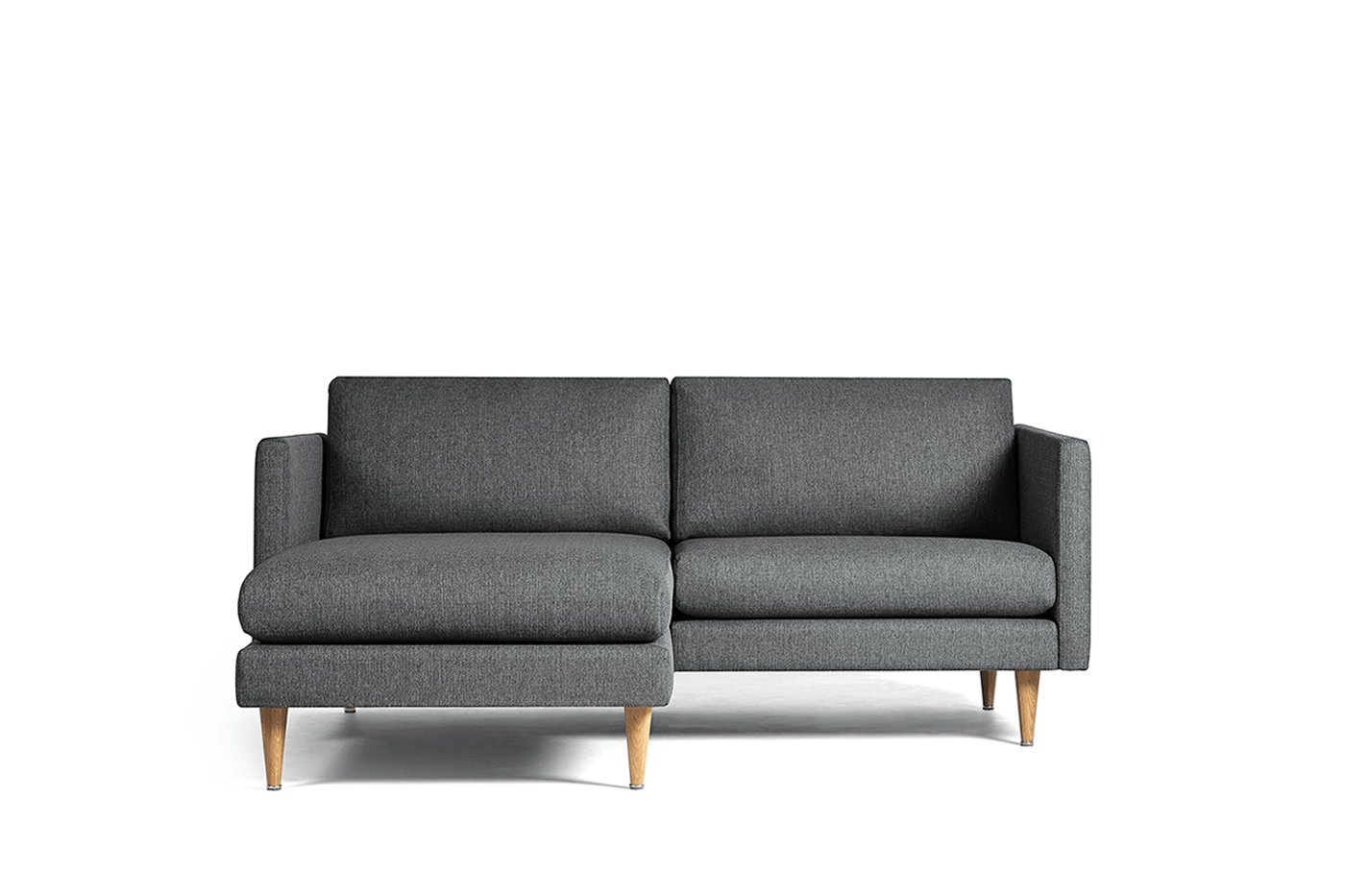 Small Corner Sofa LEAF Mini, Chaise Lounge on Left - Oot-Oot Studio