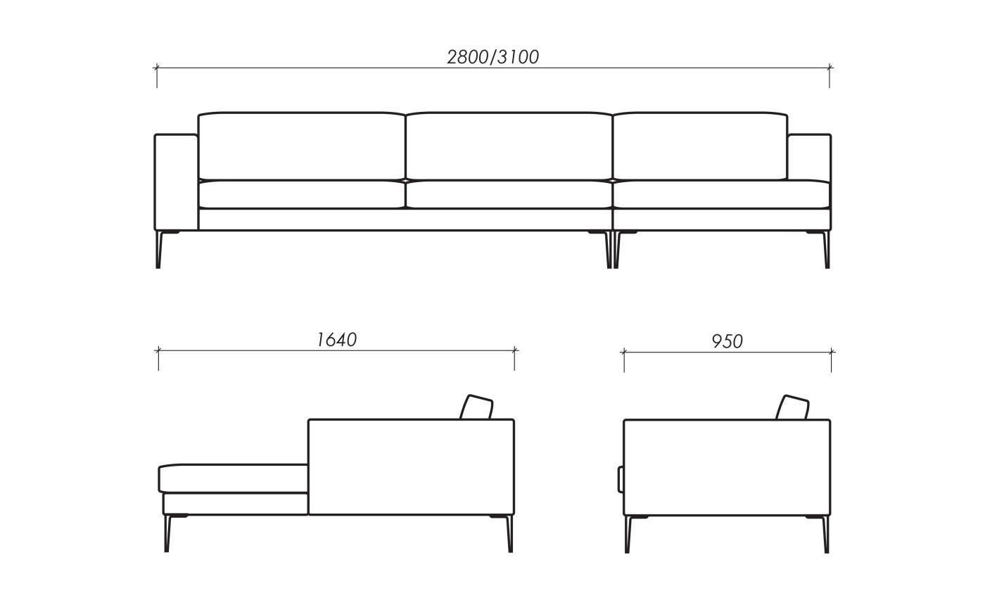 Chaise Lounge Dimensions Standard
