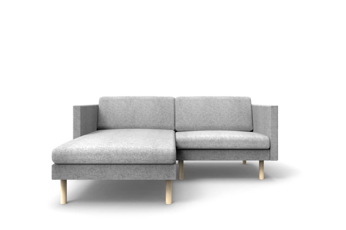 Small Corner Sofa LEAF Mini, Chaise Lounge on Left - Oot-Oot Studio
