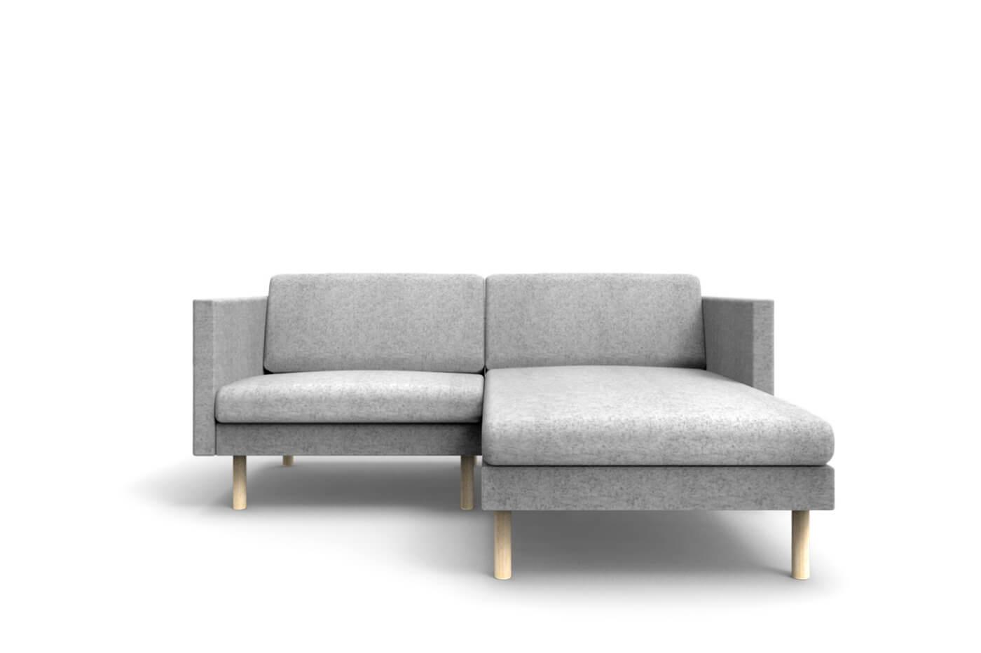 Small corner sofa leaf mini chaise lounge on right oot oot studio - Sofa chaise lounge ...