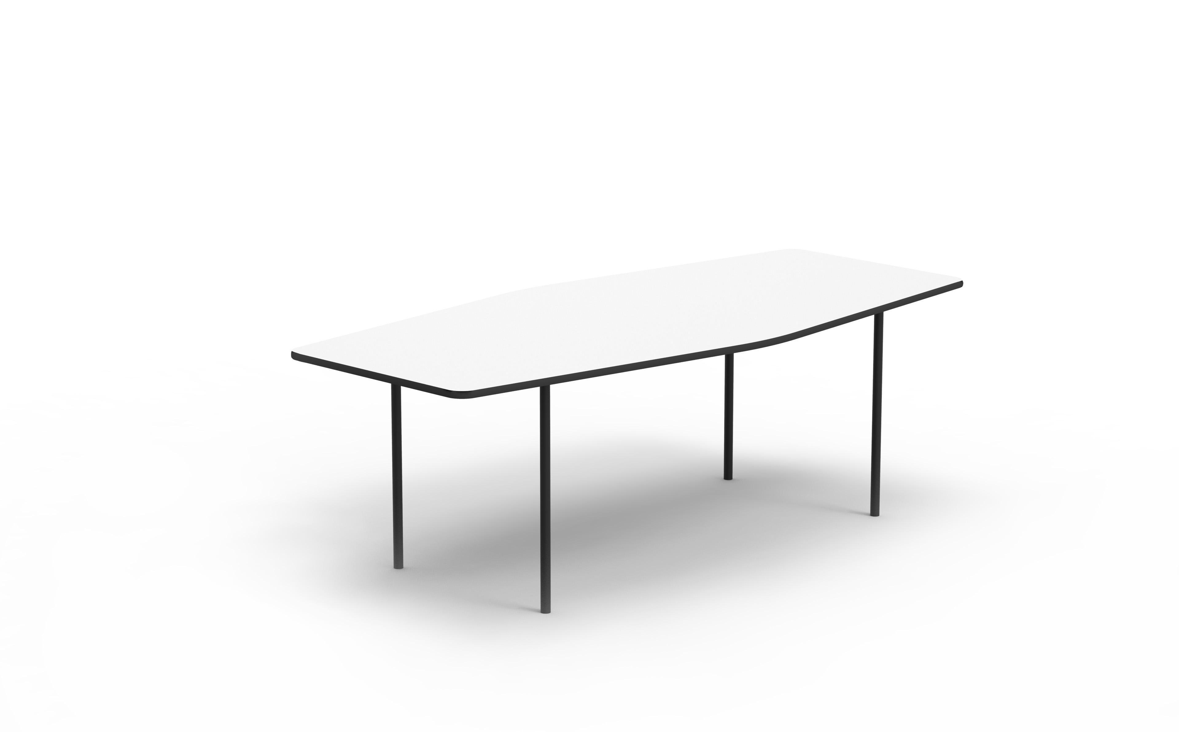 Coffee Table HEX Black Matte Steel Legs OotOot Studio - Hex coffee table