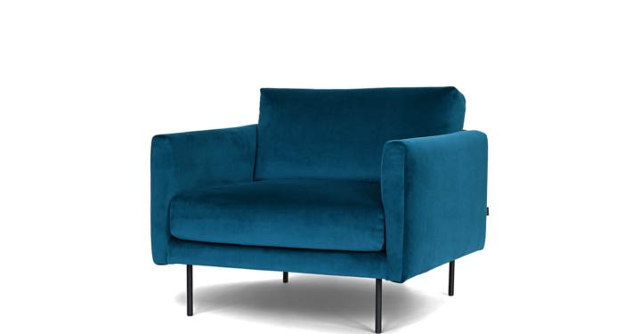 sinine samet tugitool blue velvet armchair